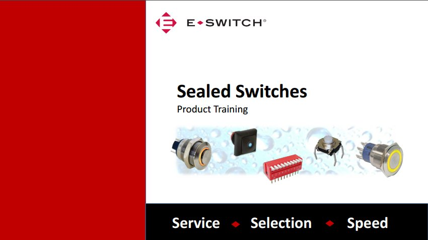 Sealed Switches PTM Cover